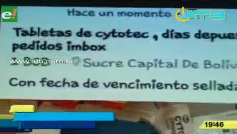 En Chuquisaca venden fármacos abortivos a través de la web