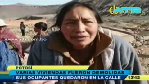 Potosí: Demuelen más de 15 viviendas sin documentación