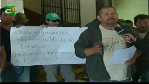 Trabajadores de la Uagrm reinstalan huelga de hambre en el Rectorado