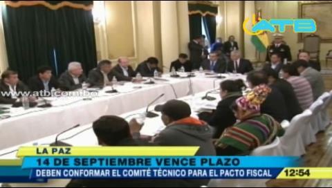 El miércoles finaliza etapa para crear comités del pacto fiscal