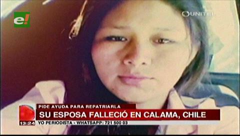 Hombre pide ayuda para repatriar el cuerpo de su esposa desde Chile