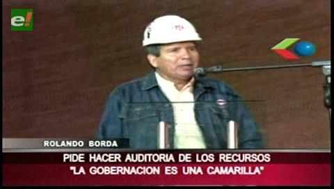 Rolando Borda pedirá que se haga una auditoría a la Gobernación cruceña