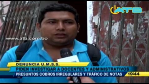 FUL de la UMSS pide sancionar a presunto traficante de notas