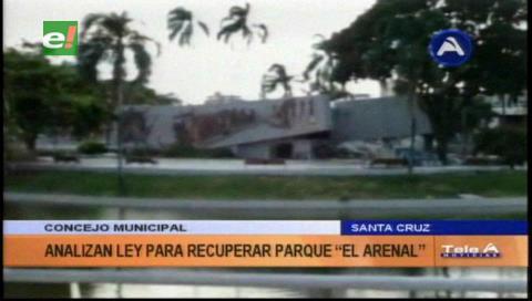Concejo Municipal proyecta ley para recuperar parque El Arenal