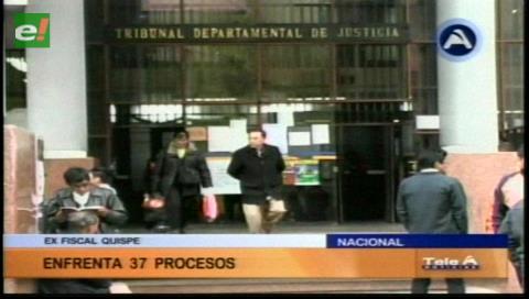 Ex fiscal Quispe tiene 37 denuncias en su contra
