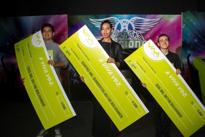Premiados.- eri Vargas, Priscila Dos Santos Pinto, David Zurita Vaca