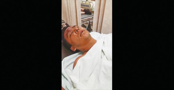 El ciudadano colombiano se encuentra inmovilizado por las lesiones
