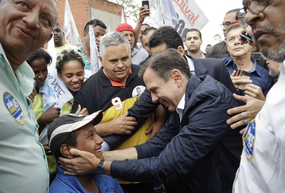 Joao Doria, durante un mítin el 30 de septiembre