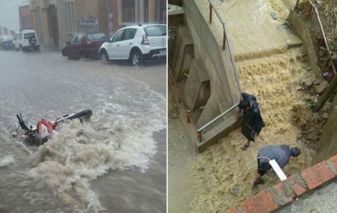 Torrencial lluvia causa estragos en la ciudad de Sucre