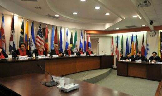 Sesión de la Comisión Interamericana de Derechos Humanos (CIDH).