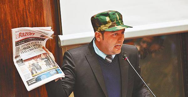 El diputado opositor Luis Felipe Dorado pide sanción en las FFAA