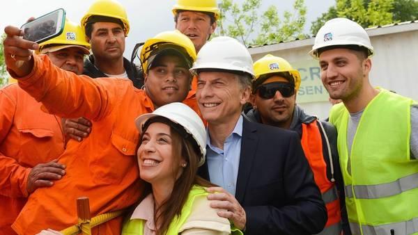 Macri, este miércoles, con Vidal en las obras de soterramiento del Ferrocarril Sarmiento en Haedo. Foto Presidencia