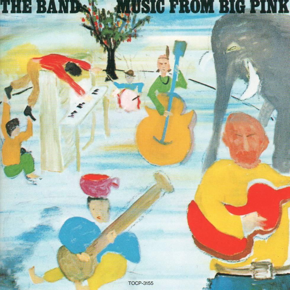 No es de extrañar que entre las habilidades artísticas de Bob Dylan estuviera la de pintar. Este cuadro de corte expresionista, y algo naïf, sirvió como portada para