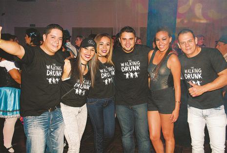 EUFÓRICOS. Fernando Hurtado,  Alejandra Suárez,  María José Santa Cruz, Francisco Roda, Mirian Gutiérrez y Cristian Duarte