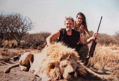 Matías Garfunkel y Victoria Vanucci y sus fotos de safari