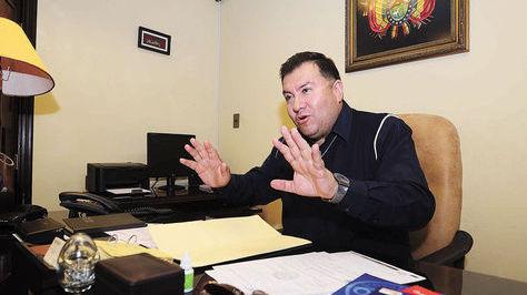 El dirigente Wálter Torrico en su despacho. Foto: Archivo