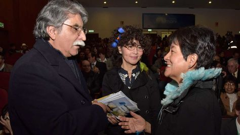 Homero Carvalho, Jacqueline Rojas y Alexandra Bravo. Foto: José Lavayen