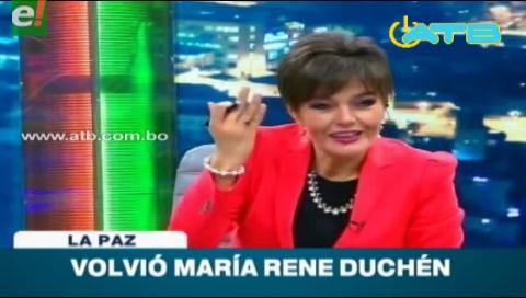 María René Duchen volvió a la televisión