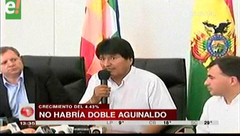 Segundo aguinaldo: Evo dice no tener información oficial del INE