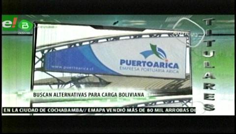 Titulares de TV: La Cámara de Exportadores de Santa Cruz  anuncia que no enviará  cargamento por puertos chilenos