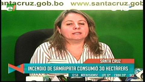 Incendio en Samaipata consumió 30 hectáreas del cerro La Patria
