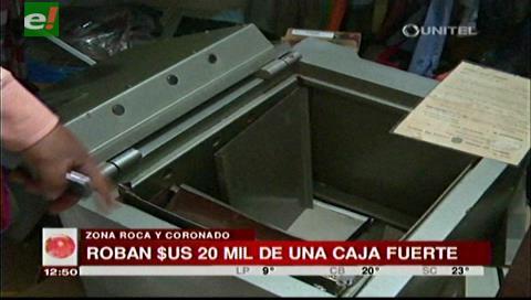 Roban $us. 20 mil de la caja fuerte de un domicilio en avenida Roca y Coronado