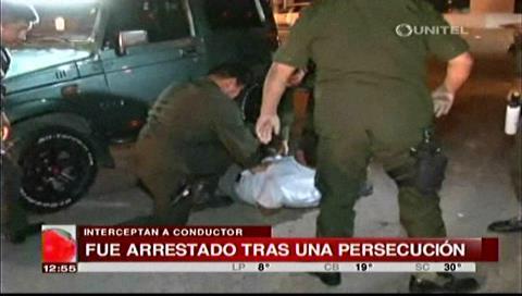 Santa Cruz: Arrestan a conductor ebrio tras más de media hora de persecución