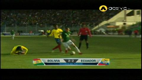 2-2: Bolivia no pudo de local e iguala con Ecuador