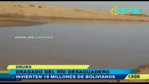 Oruro invertirá Bs 19 millones en dragado del río Desaguadero