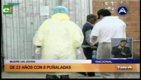 Pandilla asesina con 8 puñaladas a un joven en La Paz
