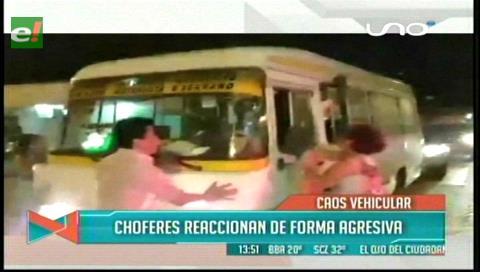Santa Cruz: Caos vehicular genera intolerancia y peleas entre choferes