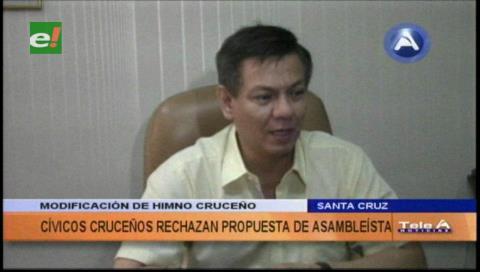 Cívicos rechazan intención de modificar estrofas del himno cruceño