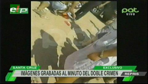 Video: El minuto después del asesinato de Miguel y Laura Santa Rosa