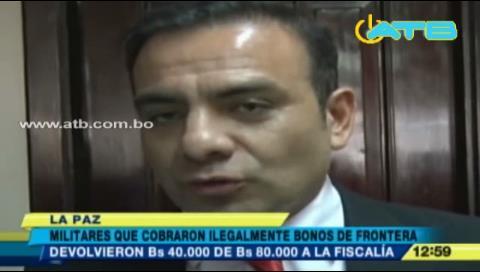 Militares devuelven bonos de frontera cobrados ilegalmente