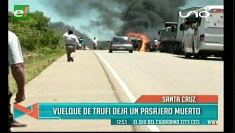 En la carretera Camiri-Villa Montes: Conductor fallece al volcar su vehículo