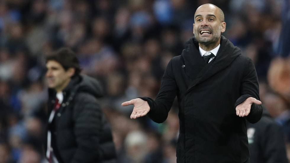 Guardiola, en el partido ante el Middlesbrough.