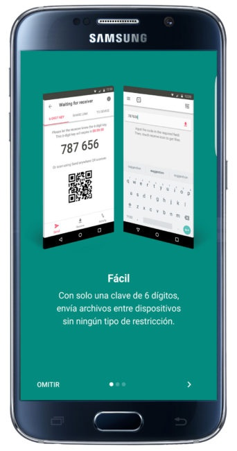 Inicio de Send Anywhere
