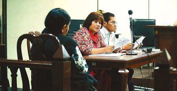Los jueces de La Paz se sentaron en el banquillo de los acusados a responder a una acción de libertad