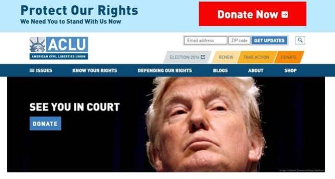 Página web de la ONG que está recaudando fondos con el lema: