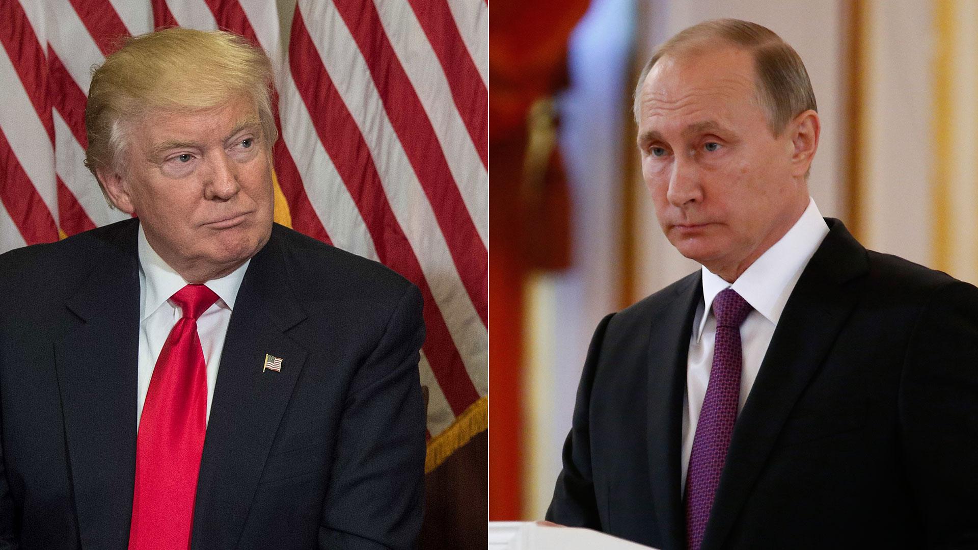 Resultado de imagen para Vladímir Putin mantiene una conversación telefónica con Donald Trump