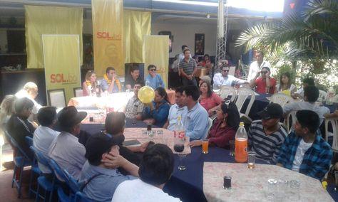 La reunión de Sol.bo en Cochabamba. Foto: Fernando Cartagena