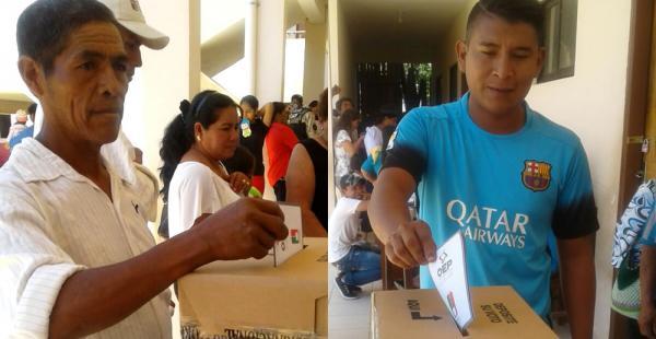 En El Puente, municipio de Guarayos, la jornada electoral comenzó a las 8:00