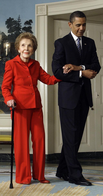 La ex primera dama junto a Barack Obama en 2009.