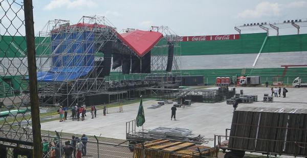 Escenario del show de Aerosmith