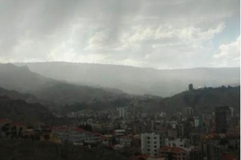 LLuvia en La Paz