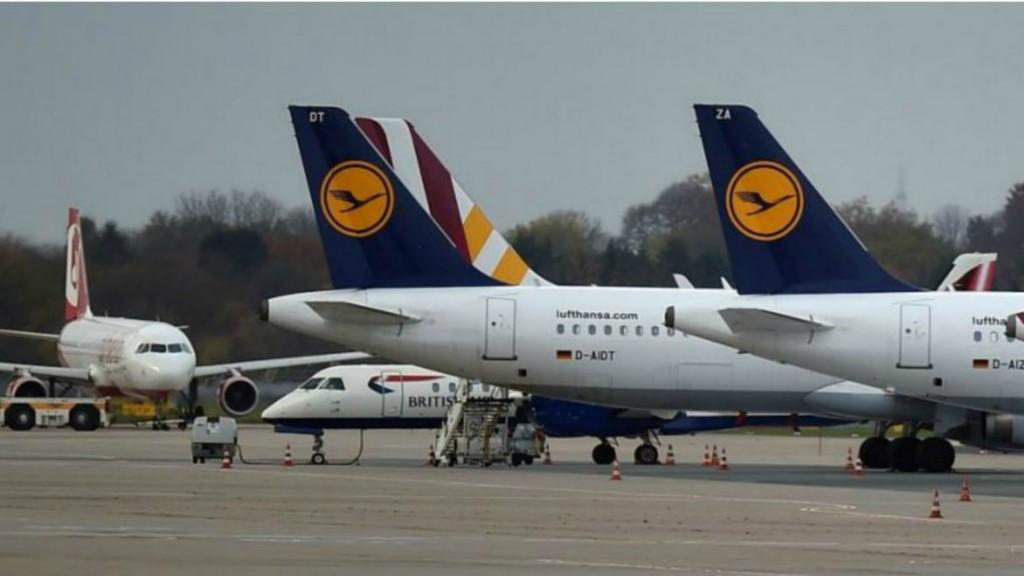 Lufthansa cancela 876 vuelos el miércoles por una huelga de pilotos