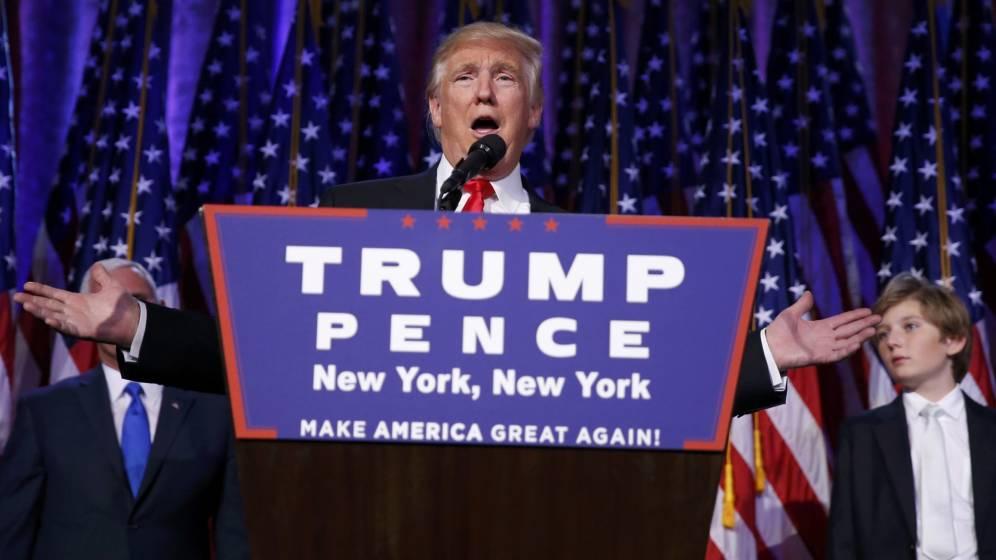 Donald Trump, elegido presidente de Estados Unidos, durante su discurso en Nueva York. (Reuters)