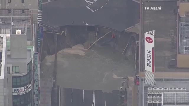 El agujero reparado en Japón se está hundiendo de nuevo