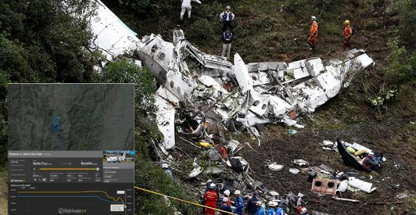 El avión de LaMia se estrelló la madrugada de este martes. En la nave viajaba el Chapecoense de Brasil