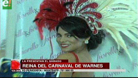 Dayana Romero reina del carnaval de Warnes 2017